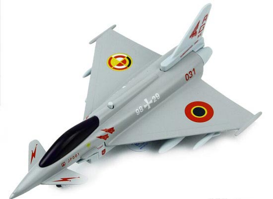Kids Gray / Silver / White Die-Cast Eurofighters EF2000 Fighter