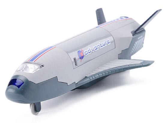 Gray / Blue / White Kids Die-Cast Space Shuttle Toy