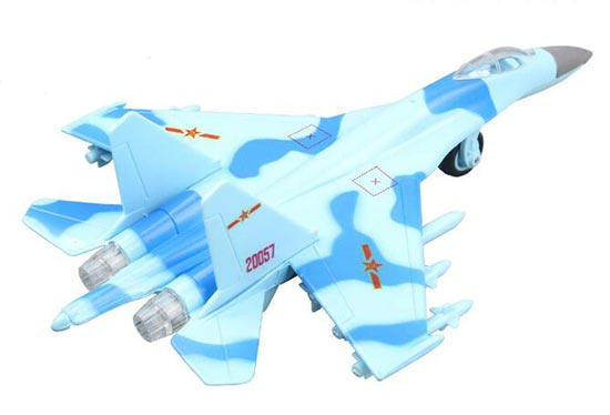 Kids White / Green /Yellow /Blue /Gray Die-Cast J-11 Fighter Toy