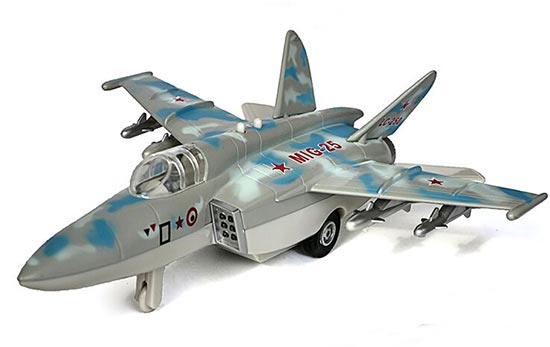 Blue / Army Green / Brown Kids Die-Cast MIG-25 Fighter Toy