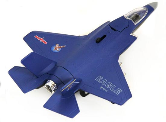 White / Red / Black / Blue Kids Die-Cast F-35B Eagle Fighter Toy