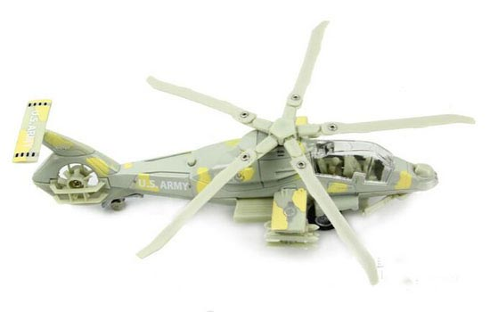 Kids Yellow / Army Green /Black Die-Cast Comanche Helicopter Toy