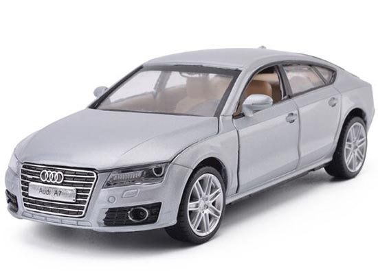 Kids 1:32 Scale Black / Silver / Red Diecast Audi A7 Toy