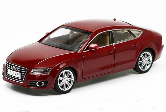 Red / Silver 1:24 Scale Diecast Audi A7 Toy