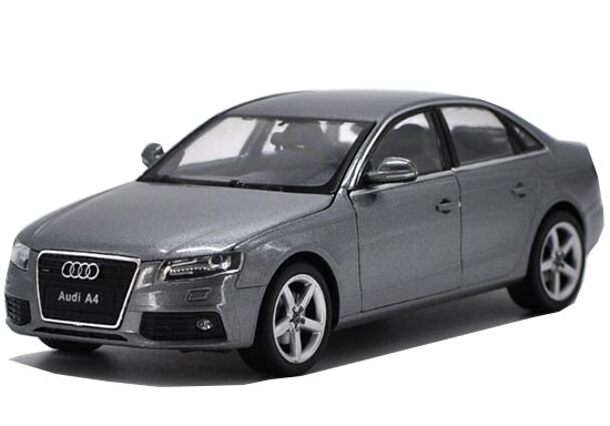 Black / White / Gray 1:24 Scale Welly Diecast Audi A4 Model