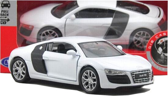 Kids 1:36 Scale Welly Diecast Audi R8 V10 Toy