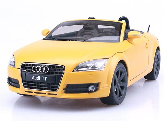 White / Yellow / Gray Welly 1:18 Scale Diecast Audi TT Roadster