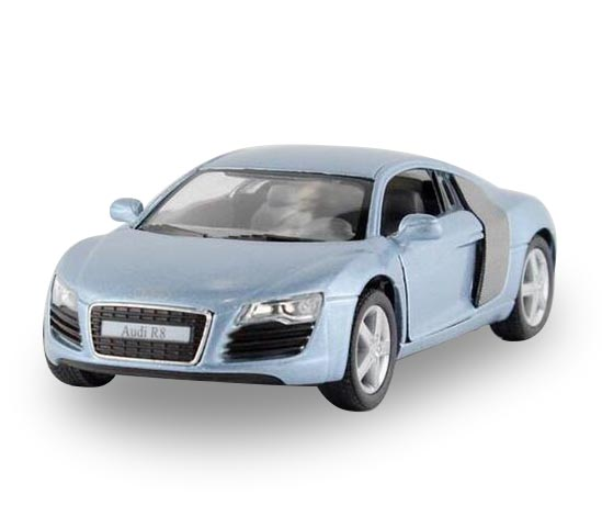 Kids 1:36 Scale Blue / Silver / Red / Black Diecast Audi R8 Toy