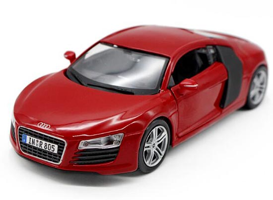 Red / Black / Blue 1:24 Scale Maisto Diecast Audi R8 Model