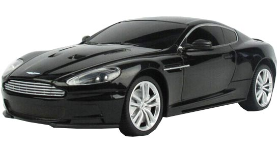 1:24 Scale Full Functions Black /Silver R/C Aston Martin DBS Toy