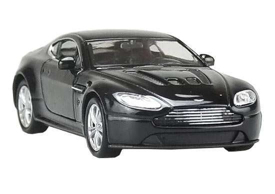 Black 1:36 Scale Welly Diecast Aston Martin V12 Vantage Toy