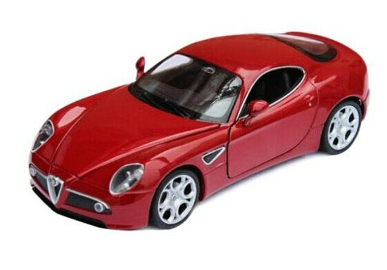 Red /Yellow /Black 1:24 Scale Welly Diecast Alfa Romeo 8C Model