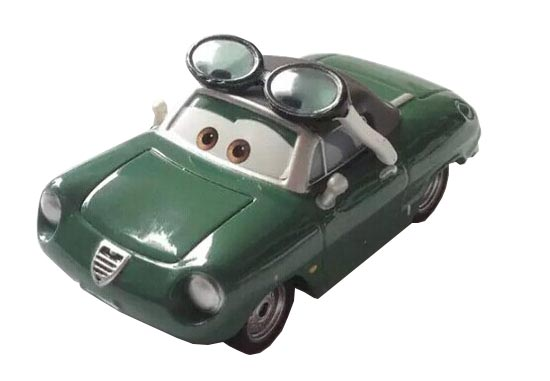 Green Mini Scale CARS Theme Cartoon Diecast Alfa Romeo Car Toy