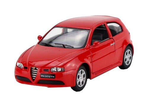 Kids White / Blue / Black / Red Diecast Alfa Romeo 147 GTA Toy