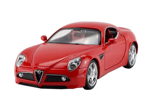 White / Yellow / Gray / Red 1:32 Diecast Alfa Romeo 8C Toy