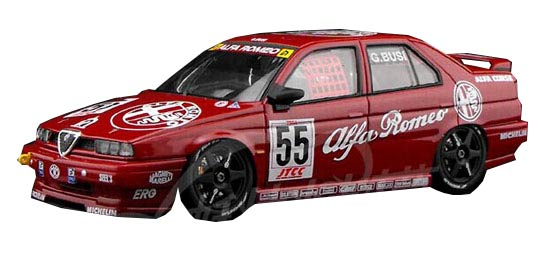 Red 1:43 Scale HPI Diecast 1994 Alfa Romeo 155 TS Model