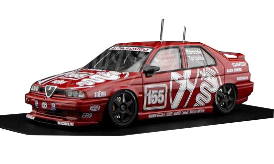 1:43 Scale Red NO.155 Diecast Alfa Romeo 155 TS Model