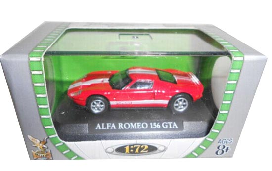 Red 1:72 Scale Diecast Alfa Romeo 156 GTA Model