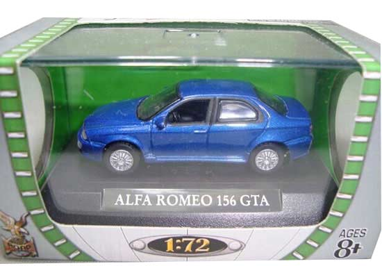 1:72 Scale Red / Blue Diecast Alfa Romeo 156 GTA Model