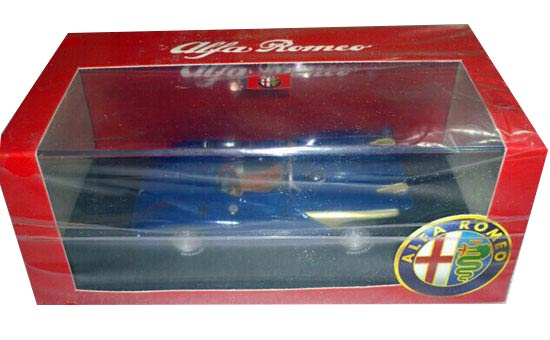 Blue 1:43 Scale M4 Diecast Alfa Romeo Model