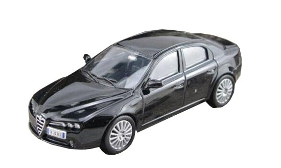 Black 1:43 Scale Diecast Alfa Romeo 159 Model
