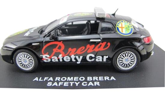 Black 1:43 Scale Diecast Alfa Romeo BRERA SAFETY CAR Model