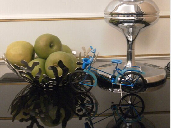 Red / Blue / Green / Purple Bicycle Decoration Model