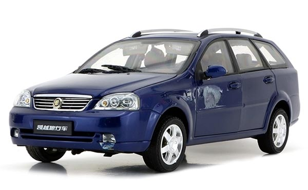 Blue 1:18 Scale Die-Cast Buick Excelle Model