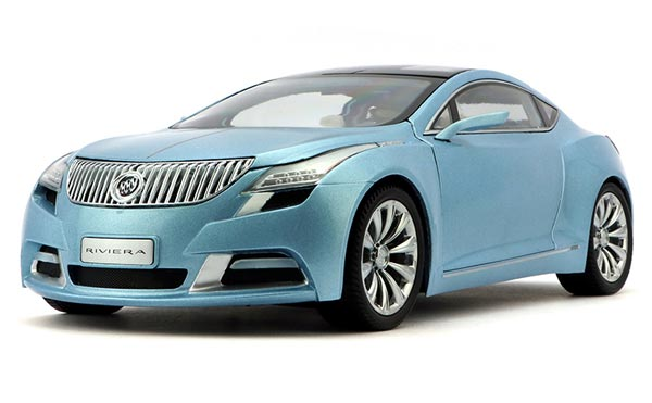 Light Blue 1:18 Scale Diecast Buick Riviera Model