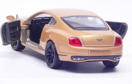 Golden / White / Red 1:36 Scale Welly Bentley Continental Toy