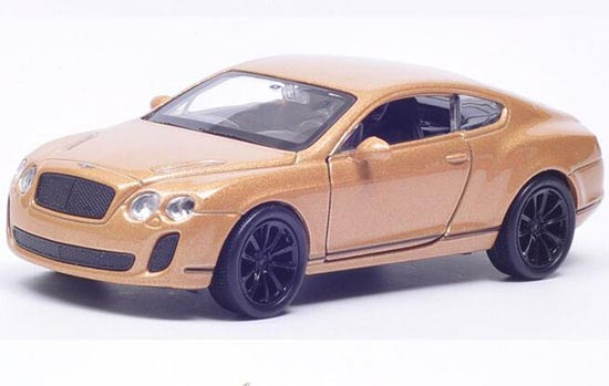 Golden / White / Red 1:36 Welly Diecast Bentley Continental Toy