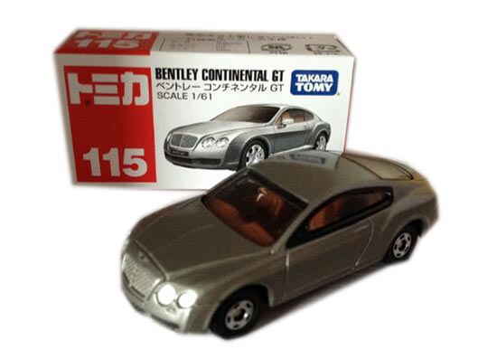 Silver Kids 1:61 Scale Tomy Diecast Bentley Continental GT Toy