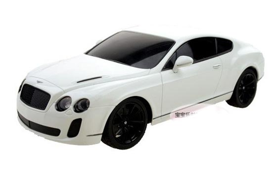Black / White 1:24 Scale Welly R/C Bentley Continental Toy