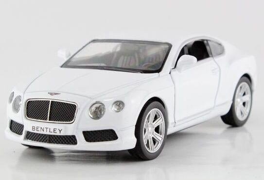 Black / White / Red Kids Pull-Back Function Diecast Bentley Toy