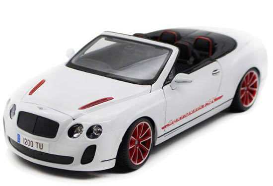 Black / White 1:18 Scale Diecast Bentley Continental Model