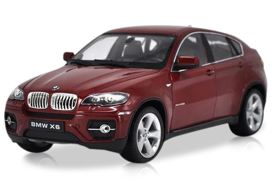 White / Red /Black / Silver 1:18 Welly Diecast BMW X6 SUV Model