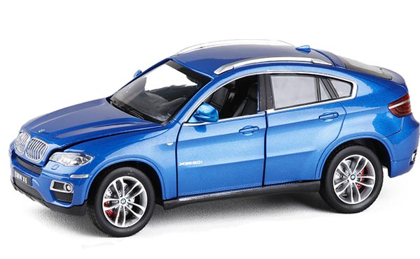 Blue / Red 1:26 Scale Diecast BMW X6 SUV Model