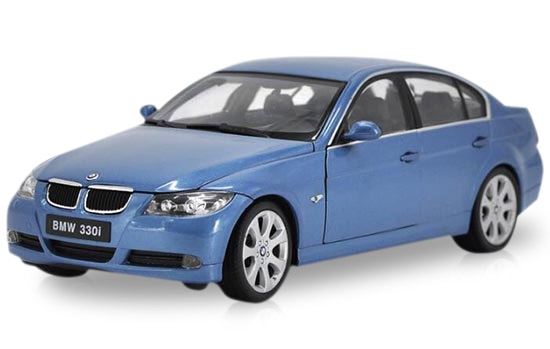 1:18 Blue / Gray / Black Welly Diecast BMW 330i Model