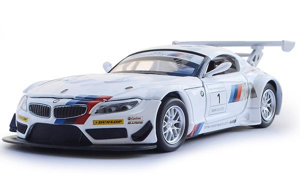 Kids White / Black 1:32 Scale Diecast BMW Z4 GT3 Toy