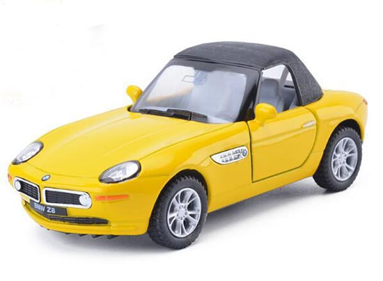 1:36 Scale Black / Red / Yellow /Silver Kids Diecast BMW Z8 Toy