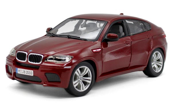 Wine Red / Black 1:18 Scale Bburago Diecast BMW X6 M Model