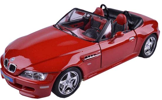 Red 1:18 Scale Bburago Diecast BMW M Roadster Model
