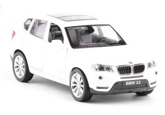 White / Red / Orange 1:32 Scale Kids Diecast BMW X3 SUV Toy