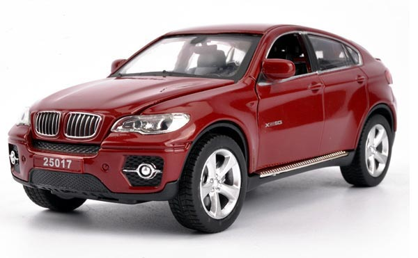 White / Red / Black 1:32 Scale Kids Diecast BMW X6 SUV Toy