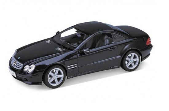 1:18 Scale Black / Silver Welly Mercedes-Benz SL500 Car Model
