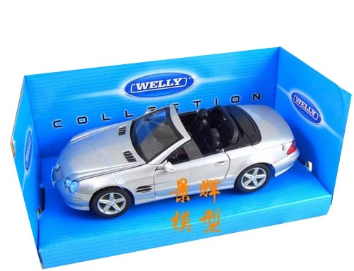 1:24 Scale Silver Mercedes-Benz SL500 Convertible Model