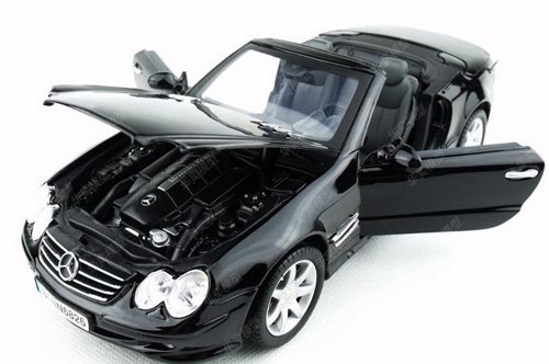 1:18 Scale Silver / Black Mercedes-Benz SL500 Car Model