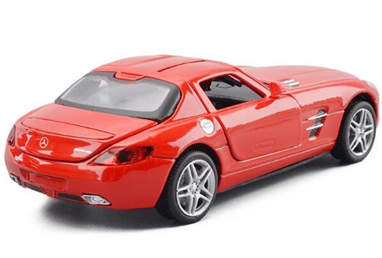 Kids 1:32 Scale Red / Black / White MERCEDES-Benz SLS Toy