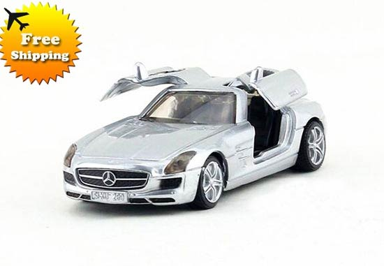 Kids Mini Scale Silver SIKU Diecast MERCEDES-Benz SLS AMG Toy