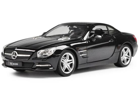 White / Black 1:24 Welly Diecast MERCEDES-BENZ SL500 Model